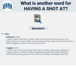 having a shot at, synonym having a shot at, another word for having a shot at, words like having a shot at, thesaurus having a shot at