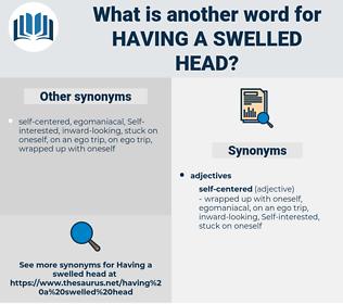 having a swelled head, synonym having a swelled head, another word for having a swelled head, words like having a swelled head, thesaurus having a swelled head