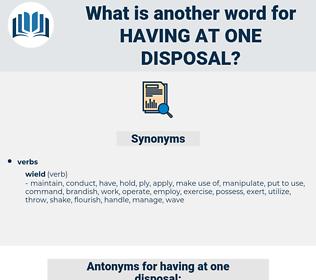 having at one disposal, synonym having at one disposal, another word for having at one disposal, words like having at one disposal, thesaurus having at one disposal
