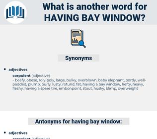 having bay window, synonym having bay window, another word for having bay window, words like having bay window, thesaurus having bay window