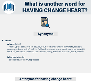 having change heart, synonym having change heart, another word for having change heart, words like having change heart, thesaurus having change heart