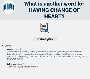 having change of heart, synonym having change of heart, another word for having change of heart, words like having change of heart, thesaurus having change of heart