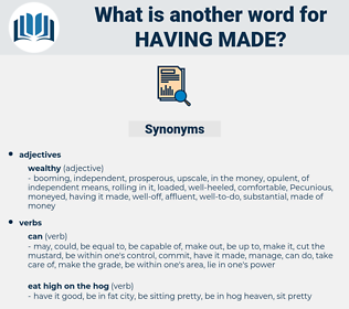having made, synonym having made, another word for having made, words like having made, thesaurus having made