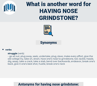 having nose grindstone, synonym having nose grindstone, another word for having nose grindstone, words like having nose grindstone, thesaurus having nose grindstone