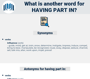having part in, synonym having part in, another word for having part in, words like having part in, thesaurus having part in