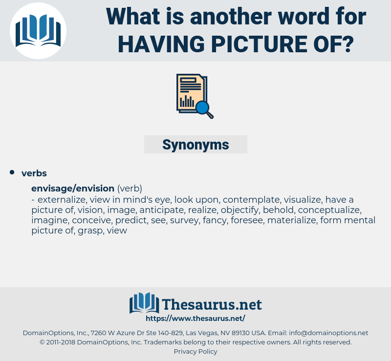 having picture of, synonym having picture of, another word for having picture of, words like having picture of, thesaurus having picture of