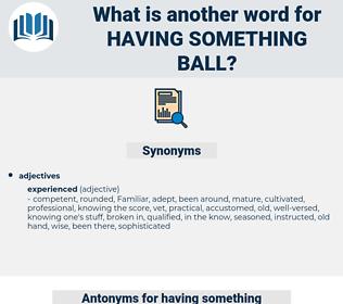 having something ball, synonym having something ball, another word for having something ball, words like having something ball, thesaurus having something ball