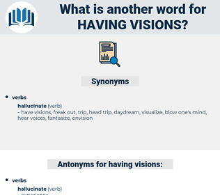 having visions, synonym having visions, another word for having visions, words like having visions, thesaurus having visions