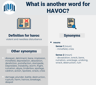 havoc, synonym havoc, another word for havoc, words like havoc, thesaurus havoc