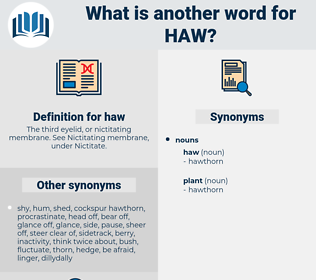 haw, synonym haw, another word for haw, words like haw, thesaurus haw