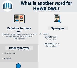 hawk owl, synonym hawk owl, another word for hawk owl, words like hawk owl, thesaurus hawk owl