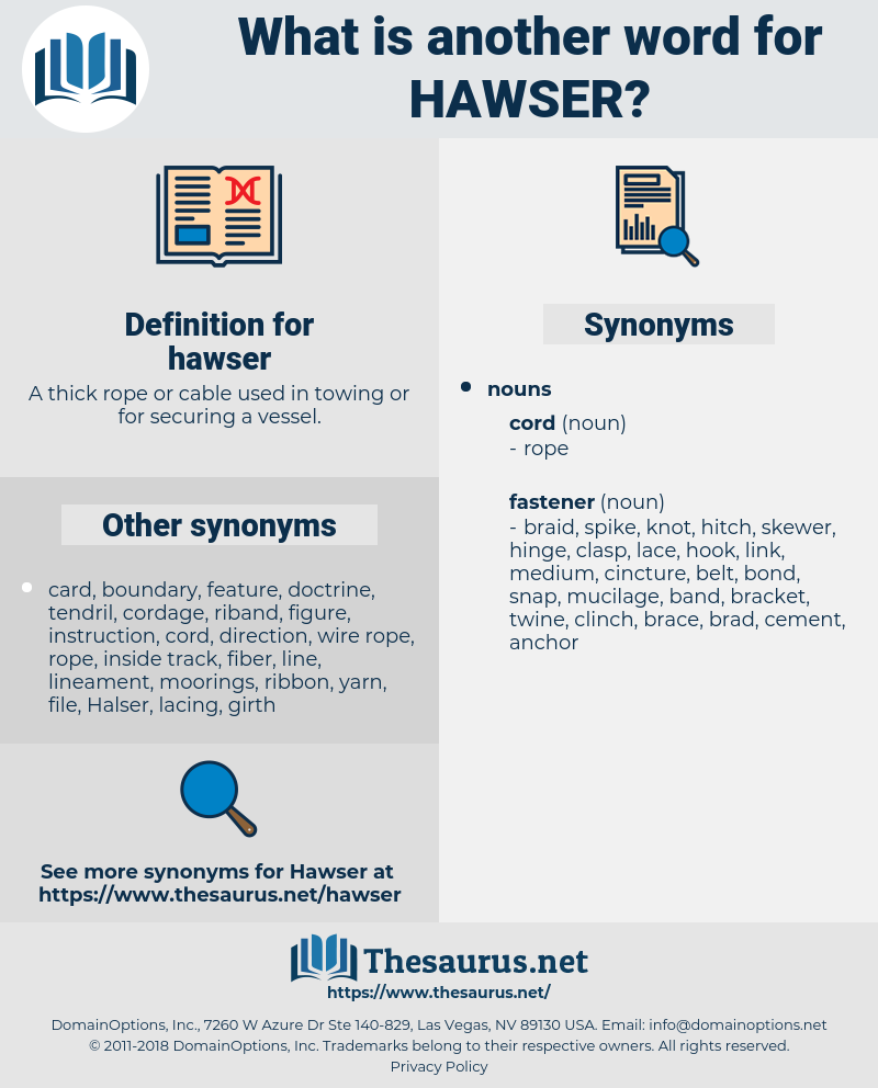 hawser, synonym hawser, another word for hawser, words like hawser, thesaurus hawser