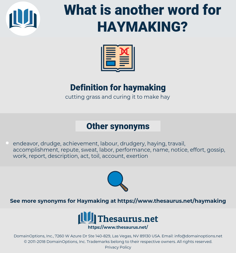haymaking, synonym haymaking, another word for haymaking, words like haymaking, thesaurus haymaking