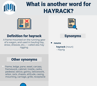hayrack, synonym hayrack, another word for hayrack, words like hayrack, thesaurus hayrack