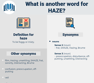 haze, synonym haze, another word for haze, words like haze, thesaurus haze