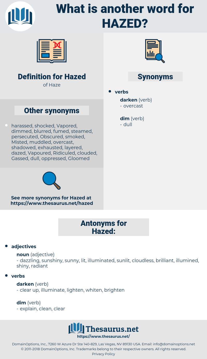 Hazed, synonym Hazed, another word for Hazed, words like Hazed, thesaurus Hazed