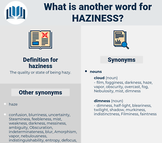 haziness, synonym haziness, another word for haziness, words like haziness, thesaurus haziness