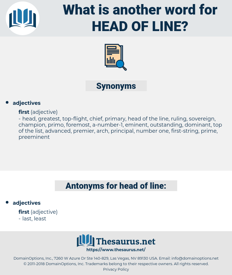 head of line, synonym head of line, another word for head of line, words like head of line, thesaurus head of line