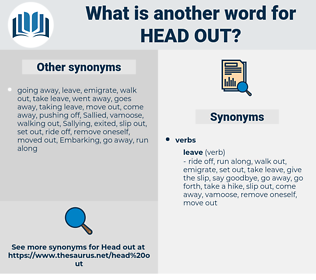 head out, synonym head out, another word for head out, words like head out, thesaurus head out