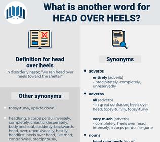 head over heels, synonym head over heels, another word for head over heels, words like head over heels, thesaurus head over heels