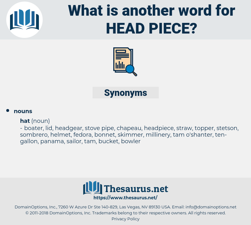 head-piece, synonym head-piece, another word for head-piece, words like head-piece, thesaurus head-piece