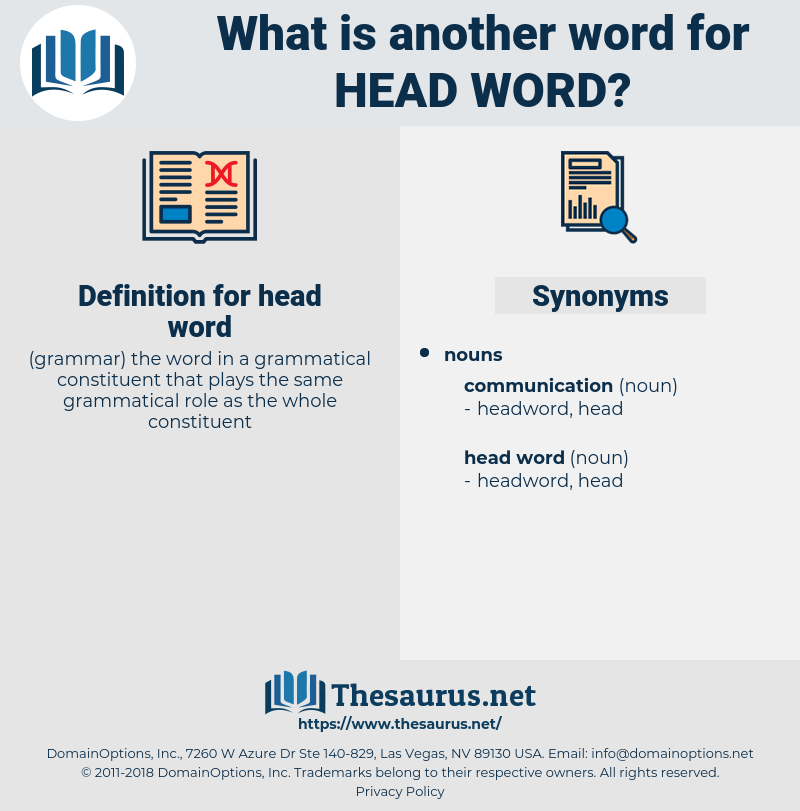 head word, synonym head word, another word for head word, words like head word, thesaurus head word