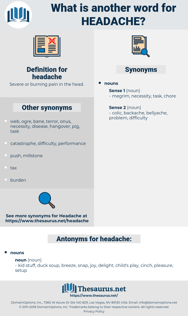 headache, synonym headache, another word for headache, words like headache, thesaurus headache