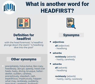 headfirst, synonym headfirst, another word for headfirst, words like headfirst, thesaurus headfirst