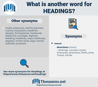 headings, synonym headings, another word for headings, words like headings, thesaurus headings