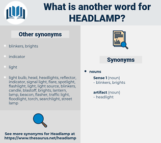 headlamp, synonym headlamp, another word for headlamp, words like headlamp, thesaurus headlamp
