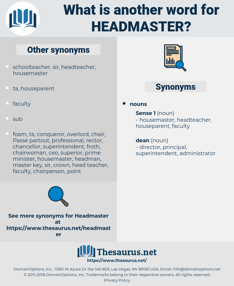 headmaster, synonym headmaster, another word for headmaster, words like headmaster, thesaurus headmaster