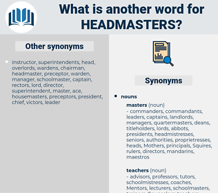 headmasters, synonym headmasters, another word for headmasters, words like headmasters, thesaurus headmasters