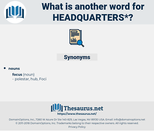 headquarters, synonym headquarters, another word for headquarters, words like headquarters, thesaurus headquarters