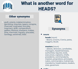 heads, synonym heads, another word for heads, words like heads, thesaurus heads