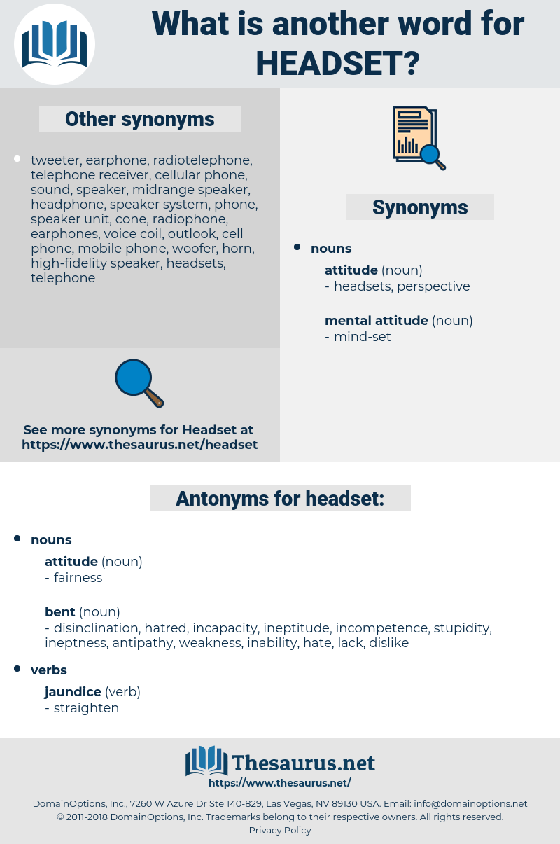 headset, synonym headset, another word for headset, words like headset, thesaurus headset