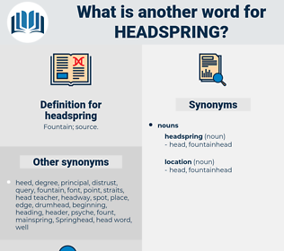 headspring, synonym headspring, another word for headspring, words like headspring, thesaurus headspring