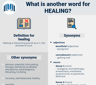 healing, synonym healing, another word for healing, words like healing, thesaurus healing