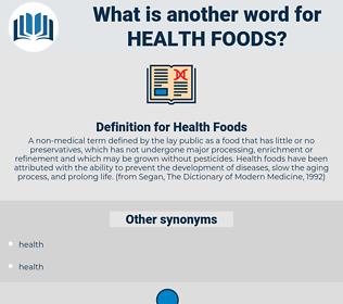 Health Foods, synonym Health Foods, another word for Health Foods, words like Health Foods, thesaurus Health Foods