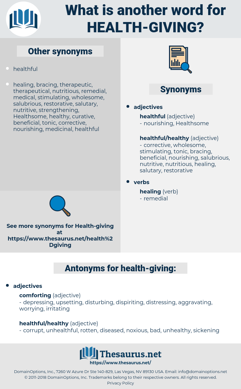 health-giving, synonym health-giving, another word for health-giving, words like health-giving, thesaurus health-giving
