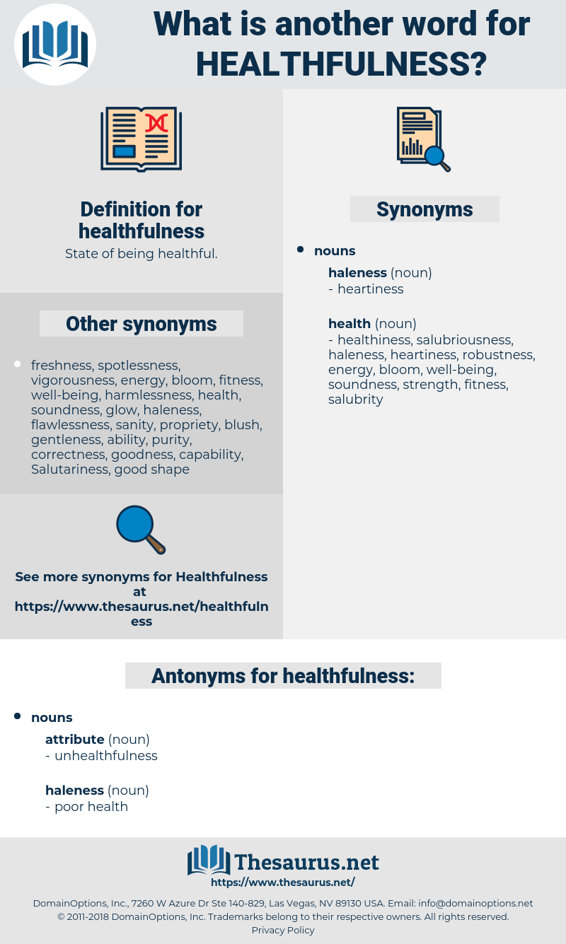 healthfulness, synonym healthfulness, another word for healthfulness, words like healthfulness, thesaurus healthfulness
