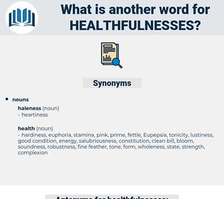 healthfulnesses, synonym healthfulnesses, another word for healthfulnesses, words like healthfulnesses, thesaurus healthfulnesses