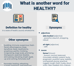 healthy, synonym healthy, another word for healthy, words like healthy, thesaurus healthy