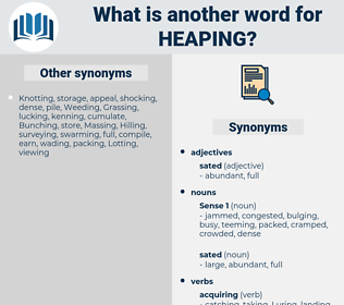Heaping, synonym Heaping, another word for Heaping, words like Heaping, thesaurus Heaping