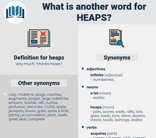 heaps, synonym heaps, another word for heaps, words like heaps, thesaurus heaps