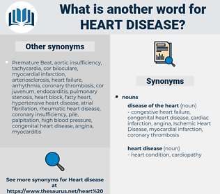 heart disease, synonym heart disease, another word for heart disease, words like heart disease, thesaurus heart disease