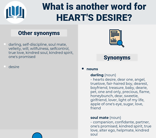 heart's desire, synonym heart's desire, another word for heart's desire, words like heart's desire, thesaurus heart's desire