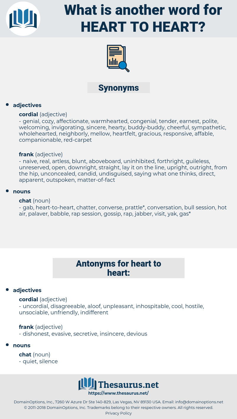 heart-to-heart, synonym heart-to-heart, another word for heart-to-heart, words like heart-to-heart, thesaurus heart-to-heart