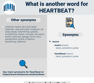 heartbeat, synonym heartbeat, another word for heartbeat, words like heartbeat, thesaurus heartbeat