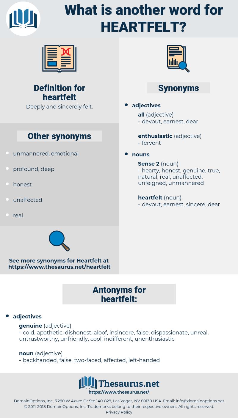 heartfelt, synonym heartfelt, another word for heartfelt, words like heartfelt, thesaurus heartfelt