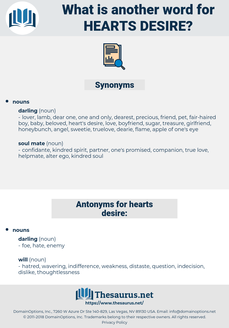 hearts desire, synonym hearts desire, another word for hearts desire, words like hearts desire, thesaurus hearts desire